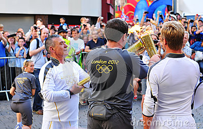 London 2012 Olympic Torch Relay Editorial Stock Image