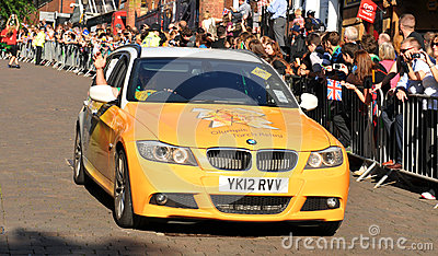 London 2012 Olympic Torch Relay Editorial Image