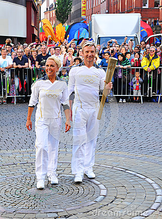 London 2012 Olympic torch relay Editorial Photo