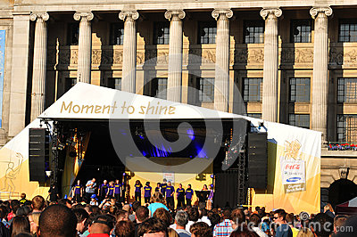 London 2012 Olympic Torch Relay concert Editorial Photography