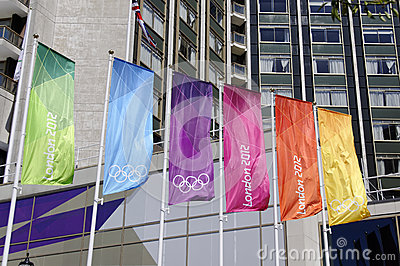 London 2012 Olympics flags in London Editorial Image