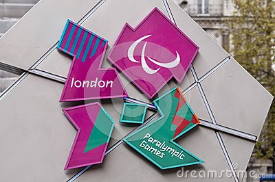 London 2012 Paralympic Games logo Editorial Image