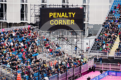 London 2012: penalty corner Editorial Photo