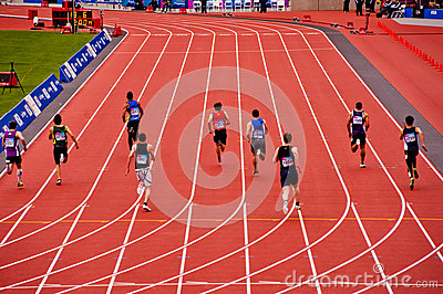London 2012: running in the olympic stadium Editorial Photography