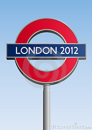 London 2012 sign Editorial Photo