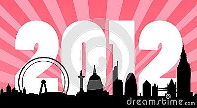 London 2012 skyline background