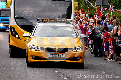 London 2012 support vehicles Editorial Image