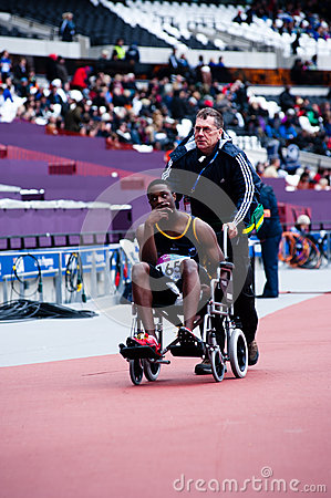 London 2012 test events: injured athlete Editorial Photo