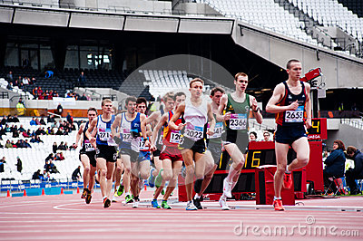 London 2012 test events: runners Editorial Photo
