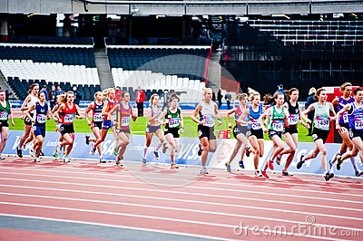 London 2012 test events: women s 3000m Editorial Stock Image