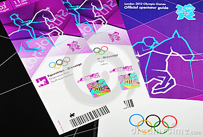 London 2012 tickets Editorial Image