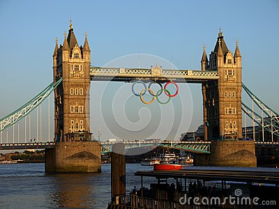 London 2012: tower bridge - h Editorial Image