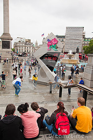 London 2012, Trafalgar square Editorial Stock Image