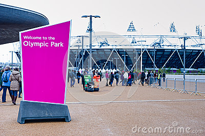 London 2012: welcome to the olympic park Editorial Photography