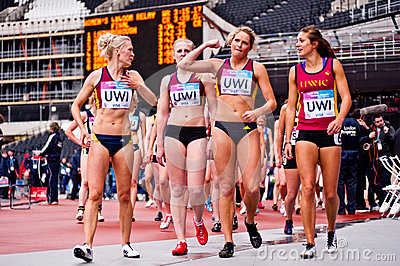 London 2012: winning athletes Editorial Image