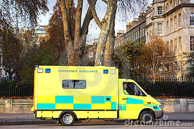 London ambulance Editorial Stock Photo