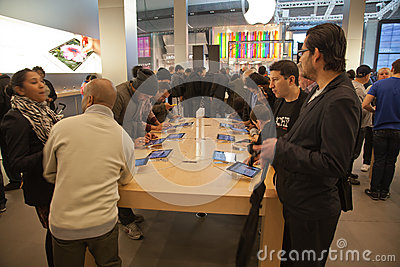 London Apple Store Editorial Stock Photo