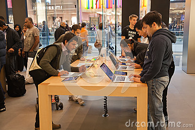 London Apple Store Editorial Image