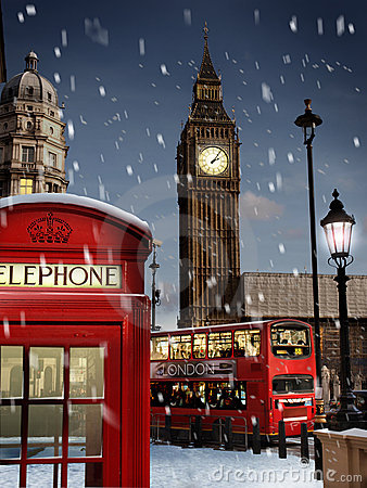 Free London At Christmas Stock Images - 16684094