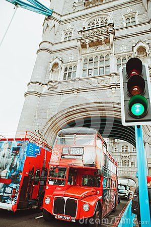 Free LONDON - AUGUST 21, 2017: Tower Bridge In London, UK. Royalty Free Stock Photography - 100066467