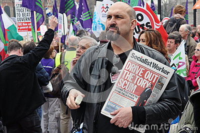 London Austerity Protest Editorial Photography