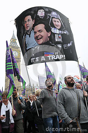 London Austerity Protest Editorial Photo