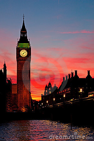London. Big Ben clock tower.