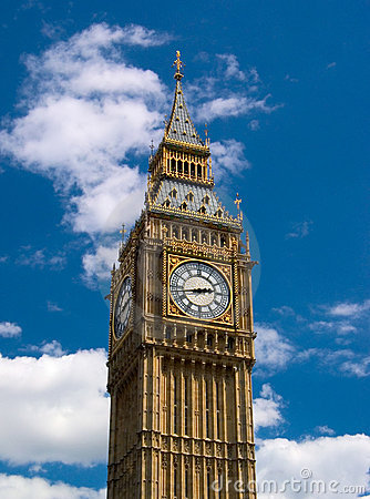 Free London - Big Ben Tower Clock Stock Images - 1533784