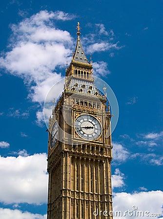 Free London - Big Ben Tower Clock Stock Images - 1533784