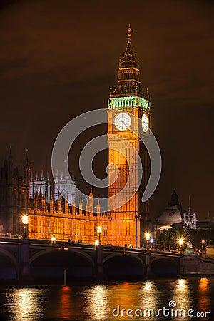 London - Big Ben Tower Clock tower at night