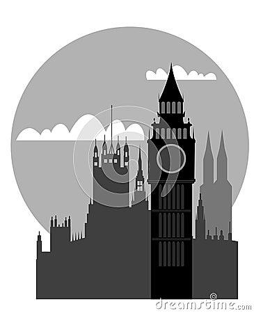 London - Big Ben - vector