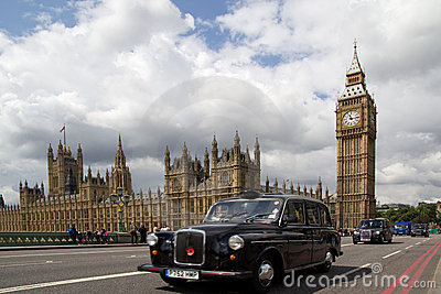London Black Cabs Editorial Photo