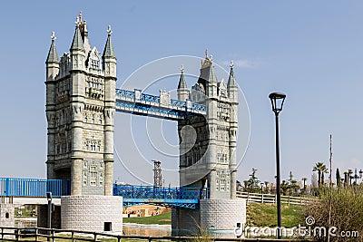London Bridge at Europa Park Stock Photo