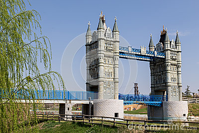 London Bridge at Europa Park Stock Photo