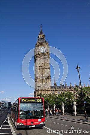 London Bus Editorial Stock Image