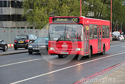 London Bus Editorial Image