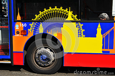 London bus Editorial Stock Photo