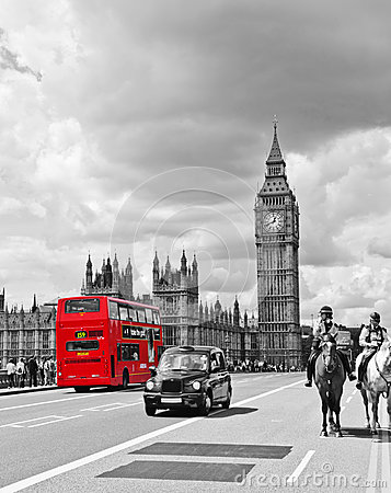 Free London Bus And Cab Stock Photos - 28733083