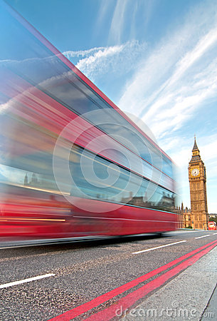 London bus and Big Ben