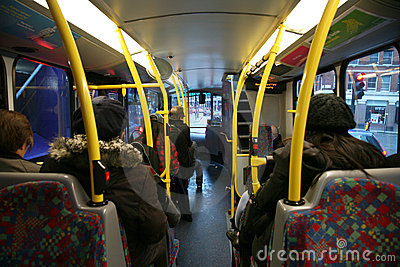 London Bus Commuter Editorial Photography