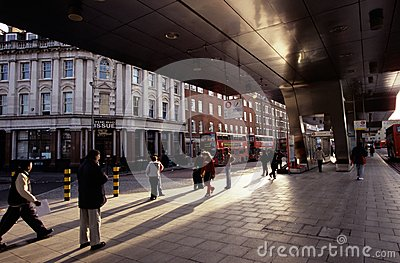A London bus station. Editorial Image