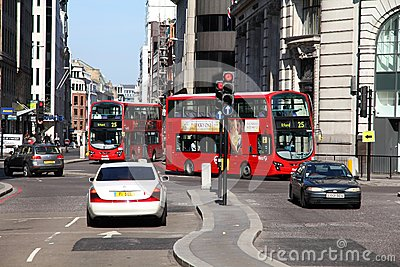 London buses Editorial Stock Photo