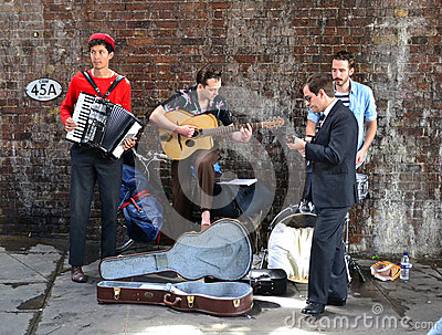 London buskers Editorial Stock Photo