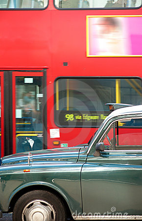 London cab and double decker bus