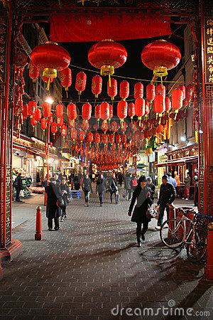 London Chinatown Editorial Photography