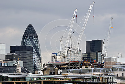 London City Business District Skyline