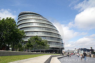 London City Hall Editorial Stock Image