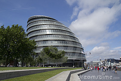 London City Hall Editorial Stock Photo