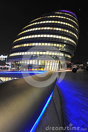 London City Hall lit up at night Editorial Stock Photo