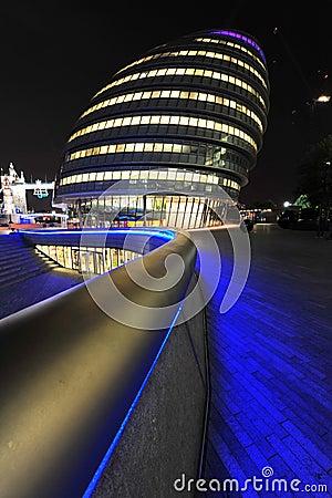 London City Hall at night Editorial Stock Image